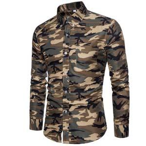 Camisa Militar Verde Camuflaje